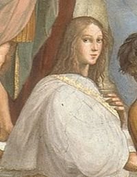 Hypatia as imagined by Raphael