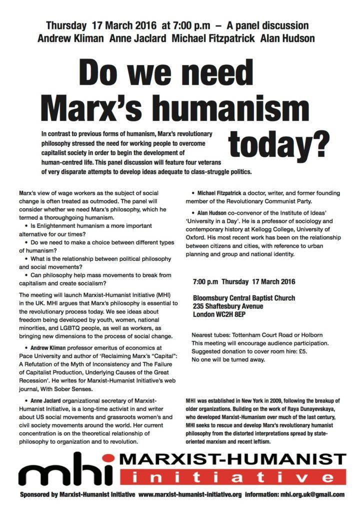 humanism mtg. 2 flier