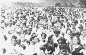 1950 Labor Day rally in Kanawha, West Virginia. In their general strike of 1949-50, Appalachian coal miners opposed the introduction of automation.