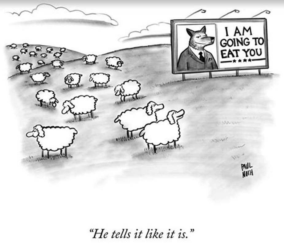 Trump wolf and sheep