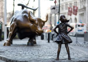 Wall Street bull and Fearless Girl