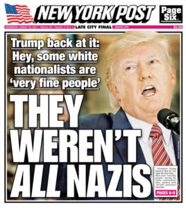 New York Post cover of August 16, 2017